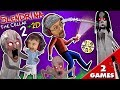 SLENDRINA'S BABY? GRANNY gets Shawn in Cellar 2 + Slendrina 2D Puzzle Game (FGTEEV 2-in-1)
