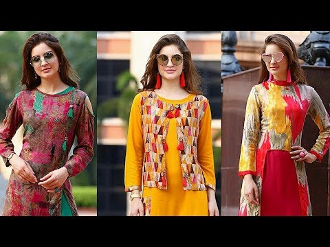 Latest fashionable/ fresh Summer Print Long Kurtis Collection 2018|Double Layer Kurtis|Trendy India1