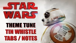 STAR WARS THEME TUNE - How To Play On Tin Whistle (Tabs & Notes)