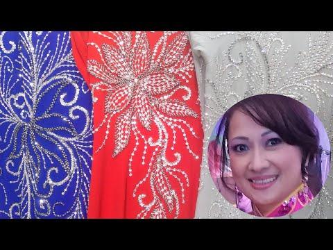 Size X-LARGE Kim Ngoc Ao Dai San Diego USA 09-11-2021 858-205-9616 Thiết Kế Áo Dài Lụa Bảo Anh Tằm ý