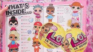 NOVAS Bonecas LOL Surpresa Lil Sisters Série 3 e Livro de Atividades LOL -Brinquedonovelinhas