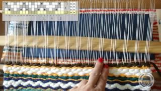 4-х ремизный узор «Зигзаг» на 2-х бёрдышках настольного ткацкого станка
