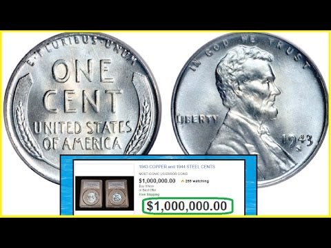 $1,000,000 Steel Penny I Check If You Have One! I VERY RARE COINS 1943