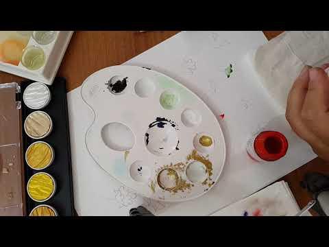 çiçek Boyama Teknikleri Ders 4 Youtube