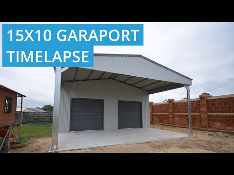 15 X 10 Garaport Build Time Lapse