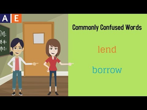Commonly Confused Words - Borrow and Lend