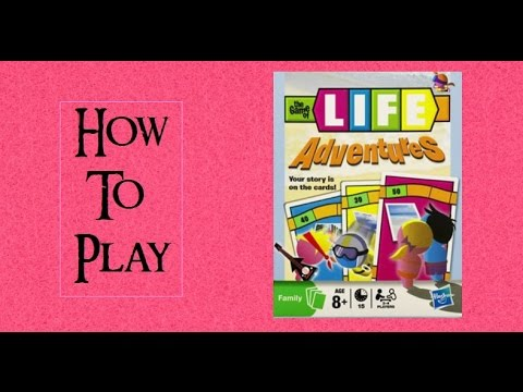 How To Play The Game Of Life Adventures Card Game Youtube
