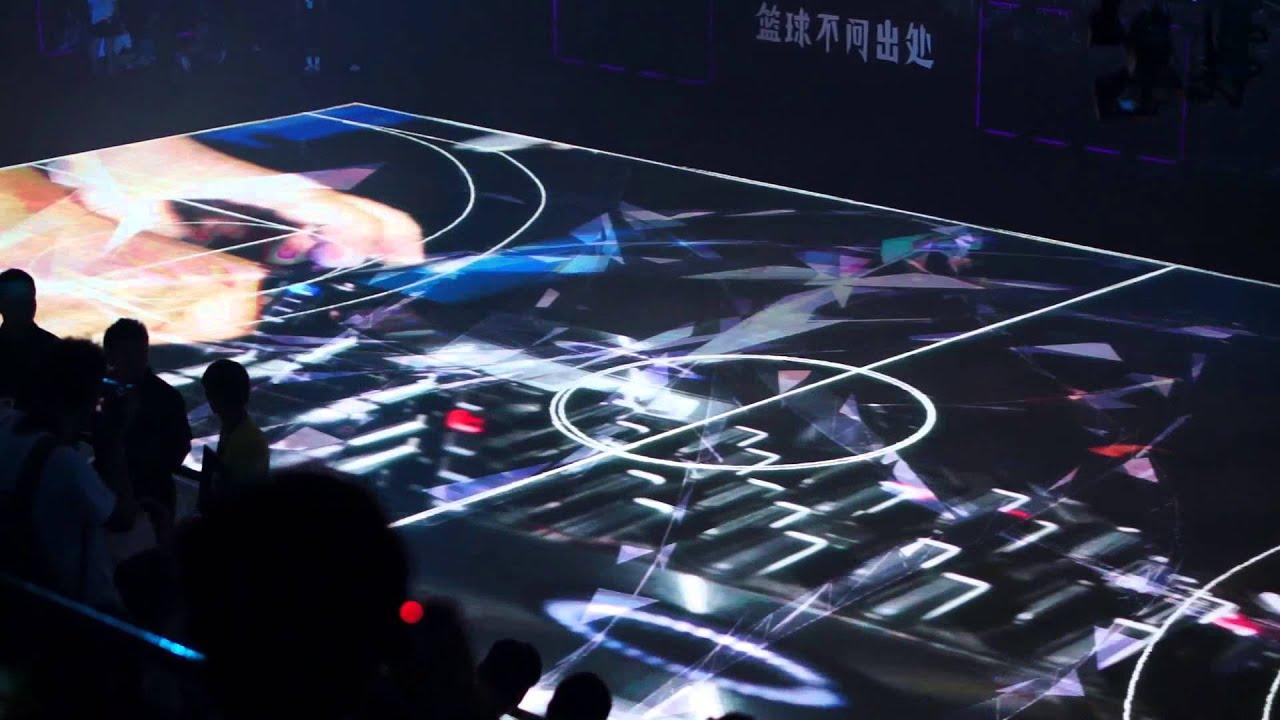 """Nike """"House of Mamba"""" LED Basketball Court - YouTube"""