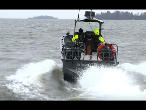 Sea trial of the A5 waterjet