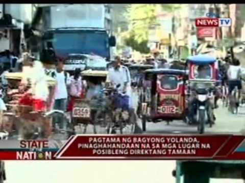 Inaasahang pananalasa ng Super Typhoon Yolanda sa Leyte at Samar, pinaghahandaan na