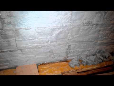 гипсовый камень, потек клей через 2 часа после укладки