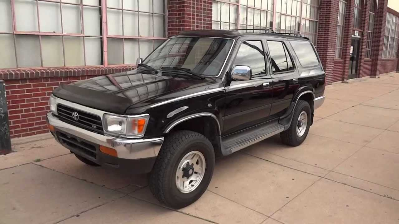 1993 toyota 4runner 4x4 v6 one family owned low miles for sale youtube. Black Bedroom Furniture Sets. Home Design Ideas