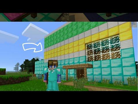 بنيت منزلي وجهزته (بالاثاث، المسبح، الحضيرة) في لعبة ○ ماين كرافت ○ ● Minecraft ●