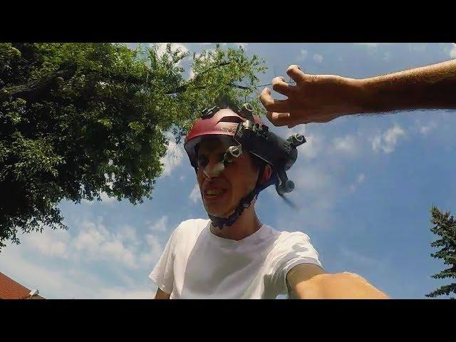 Lądowanie dronem na twarzy!