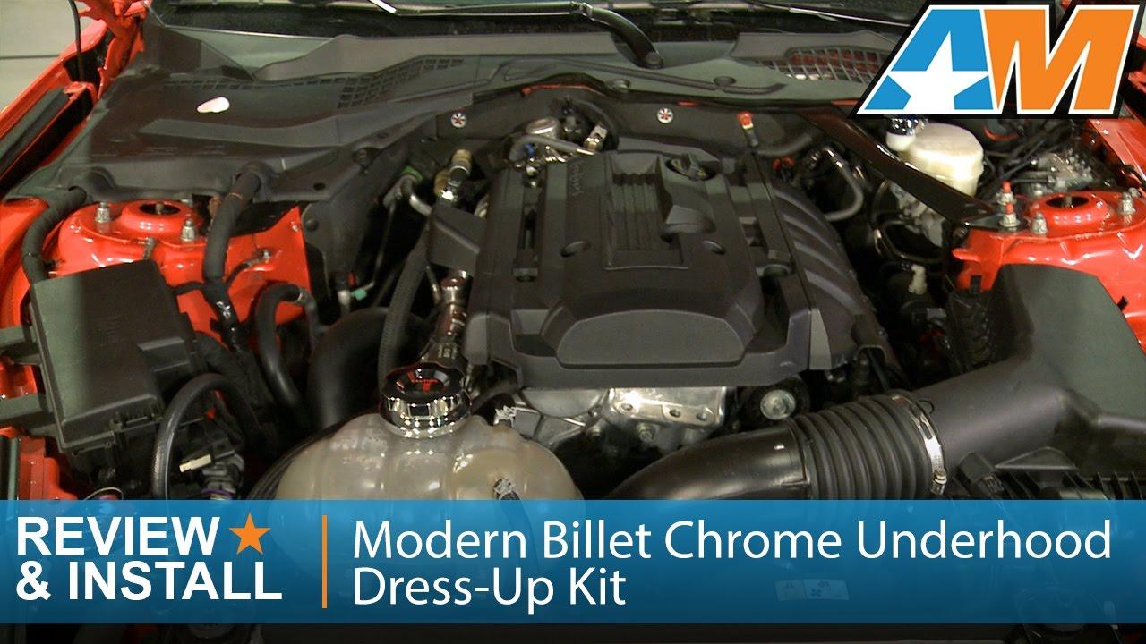 Mustang Modern Billet Chrome Underhood Dress Up Kit Ecoboost Review Install
