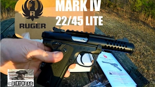 Ruger mark iv 22/45 lite unbox/shoot/issues in 4k