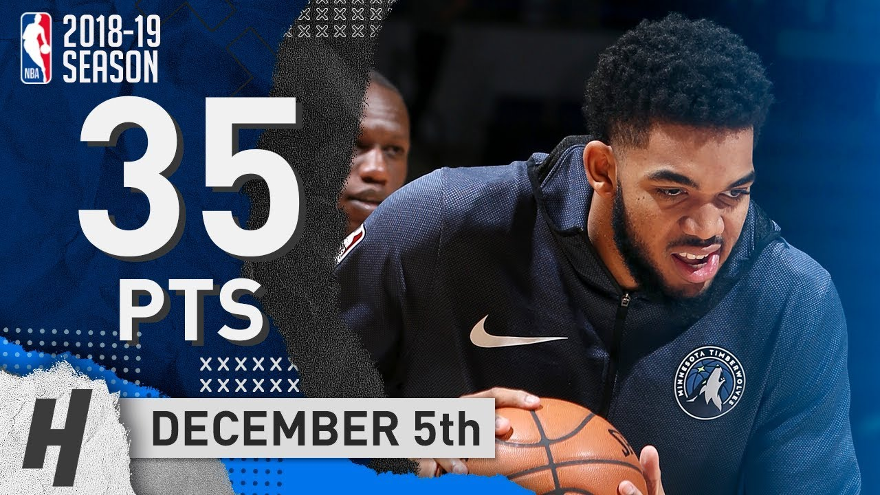 Karl-Anthony Towns Full Highlights Wolves vs Hornets 2018.12.05 - 35 Pts, 12 Reb, 6 Blocks