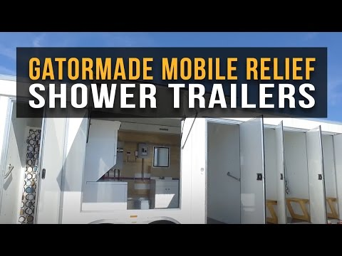 Gatormade Mobile Relief Shower Trailers