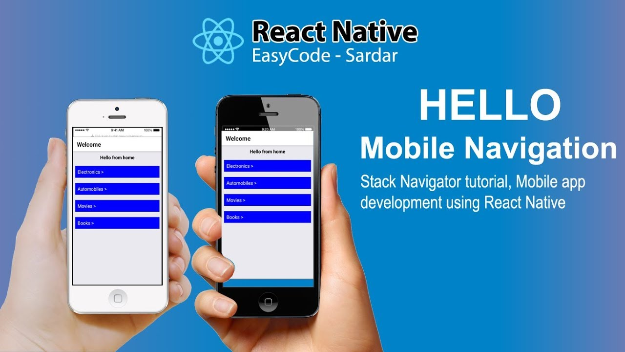 #1 React Native Navigation || Stack Navigator tutorial || Mobile app  development using React Native