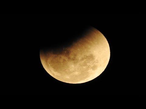 Rare Super Blue Blood Moon - 2018 - A camera recorded video