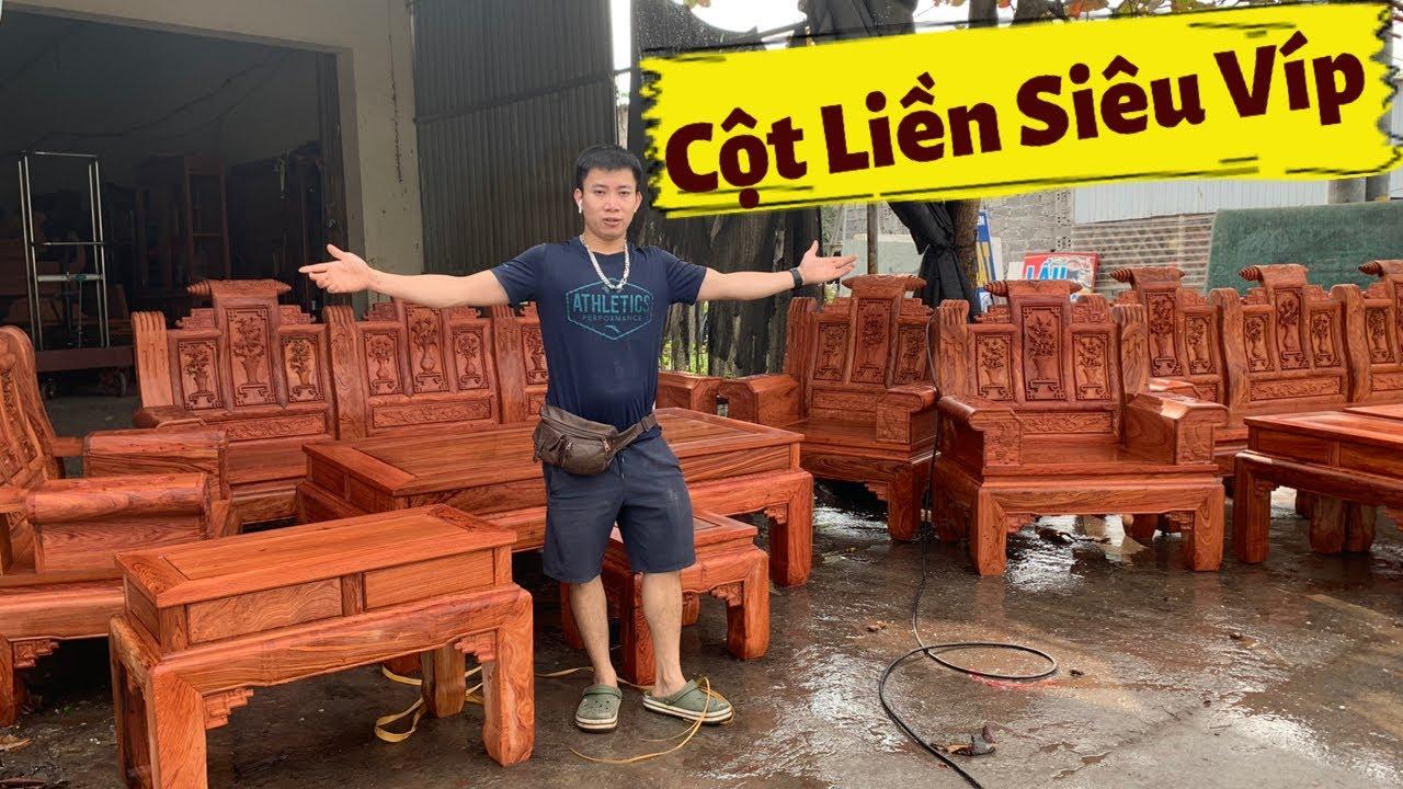 🔴Xong Tiếp 2 Bộ Ghế Âu Á Hộp Cột Liền Siêu To Khổng Lồ Gỗ Hương. #dogothanhluan