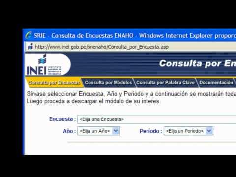 Guía para ingresar a la base de datos ENAHO en la sección microdatos