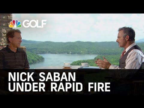 Nick Saban Under Rapid Fire on Feherty   Golf Channel