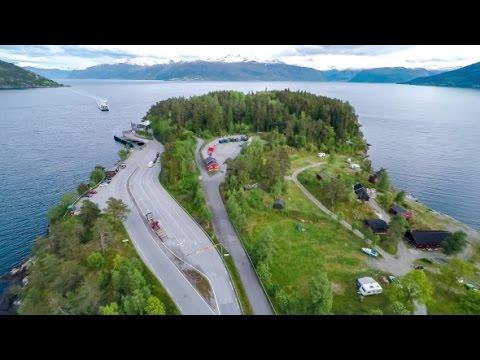 Beautiful Nature Norway. Ferries' Cross. | Stock Footage