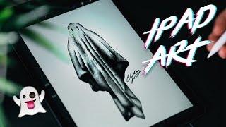 Ghost Drawing In Procreate - Ipad Pro Art 👻