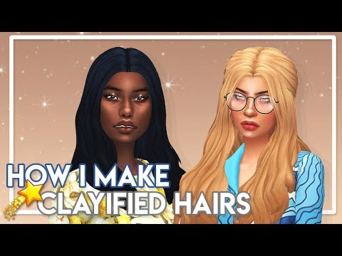 THE SIMS 4 CLAYIFIED HAIR TUTORIAL (PHOTOSHOP + S4 STUDIO) 💇