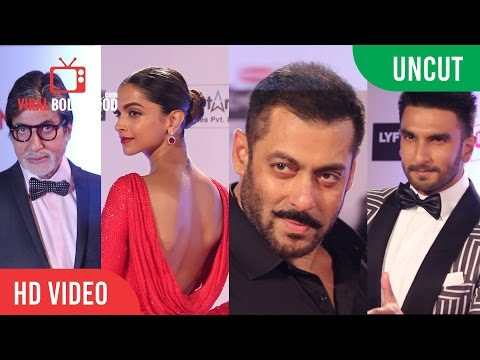 UNCUT - Filmfare Awards 2016 | Red Carpet | Salman Khan | Deepika | Ranveer | Amitabh & More...