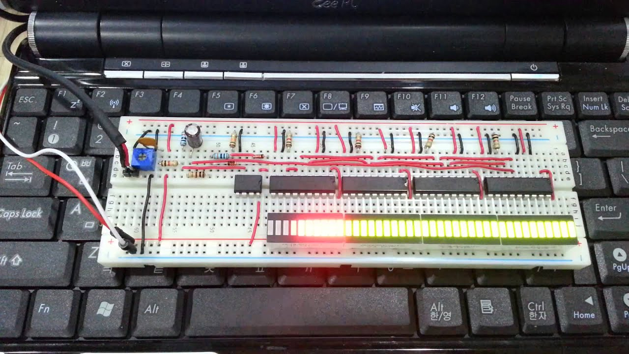 Vu Meter Circuit With 10 Led