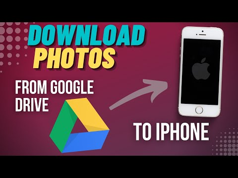 Download single/multiple photos from Google Drive or Photos App  - iPhone
