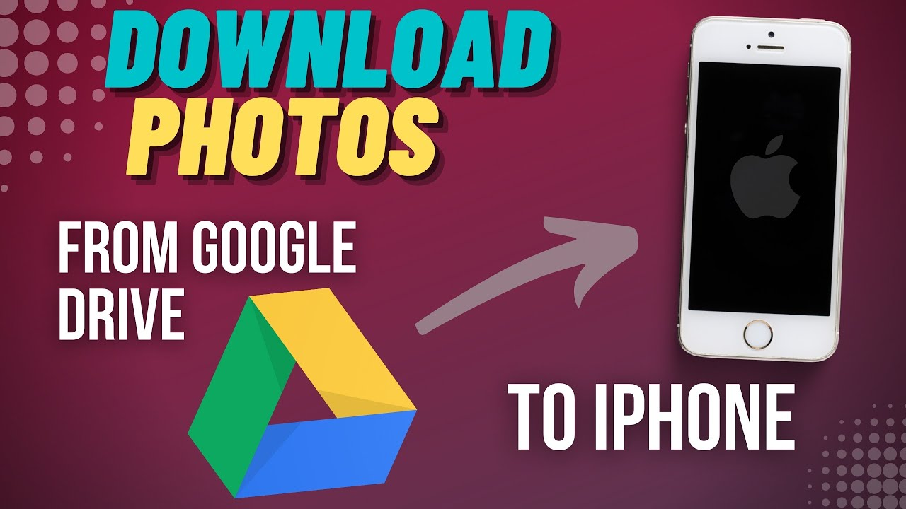 Download single/multiple photos from Google Drive or Photos App  - iPhone #1