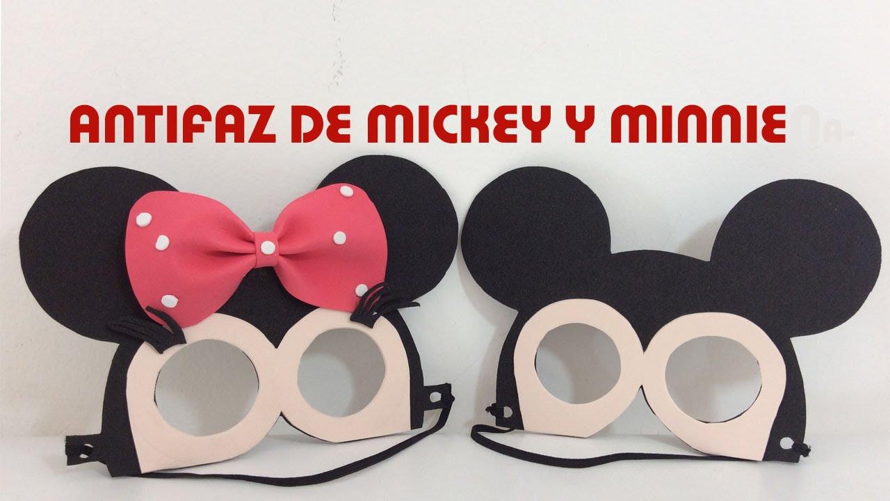 IDEAS PARA FIESTAS INFANTILES DE MINNIE Y MICKEY MOUSE. ANTIFAZ ...