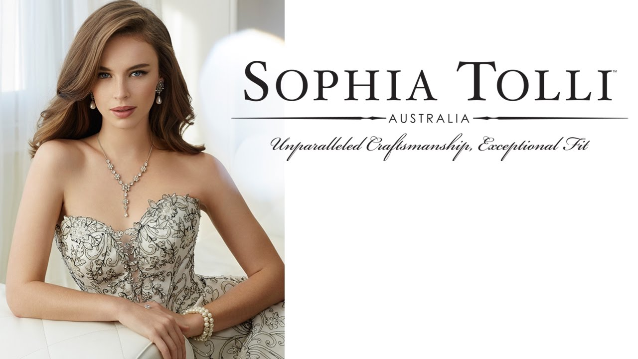 a8660174ba9 Sophia Tolli Wedding Dresses for 2017 - YouTube