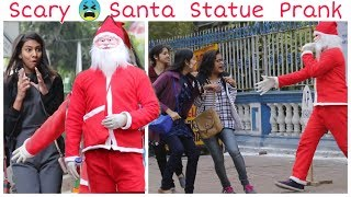 Epic Santa Statue Prank on Girls | Awesome Reactons |FunkyTv|