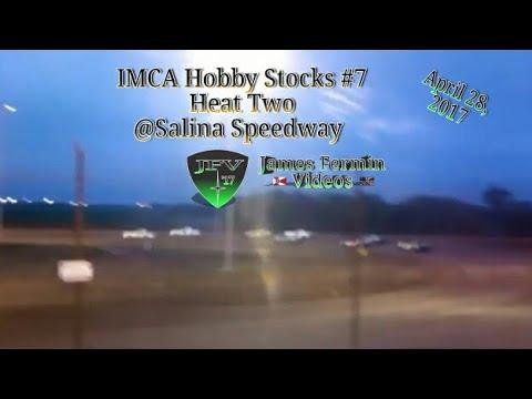 IMCA Hobby Stocks #6, Heat, Salina Speedway, 2017