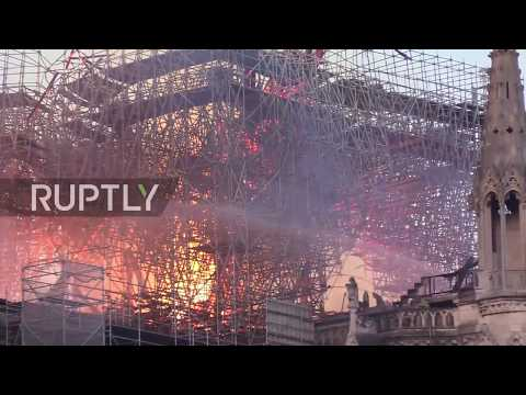 France: Firefighters take on flames consuming Notre Dame cathedral