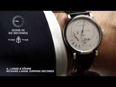 GONE IN 60 SECONDS - A  Lange & Söhne Richard Lange Jumping Seconds