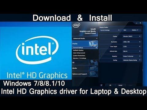 How To Download Intel HD Graphics driver & Install For Laptop & Desktop