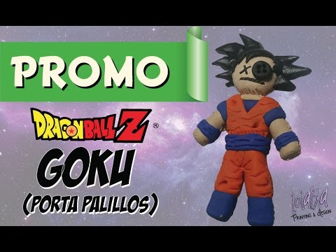 PROMO - How to Make Goku from Dragon Ball - Voodoo Toothpick Holder - DIY Tutorial Polymeric Clay