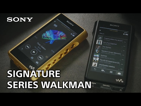 Sony's Signature Series Walkman NW-WM1Z and NW-WM1A Mp3