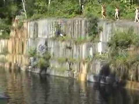 Cliff Jumping At The Dorset Quarry Youtube