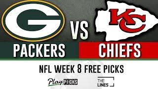Sunday Night Football NFL Week 8 - Packers vs Chiefs | SNF Free Picks & Betting Odds