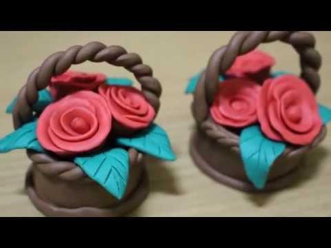 ปั้นดินน้ำมันดอกไม้Play Doh flowers| modelling clay flowers