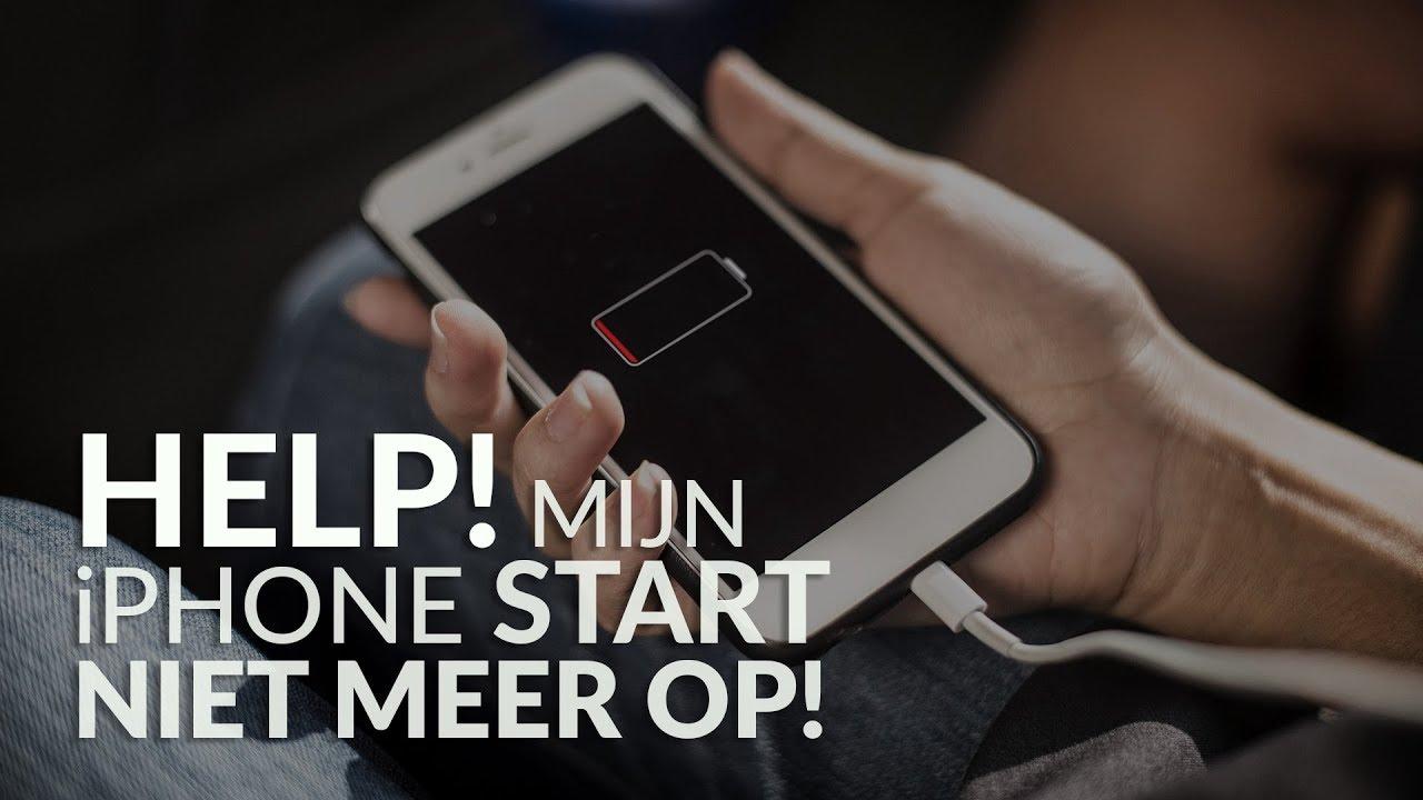 NIEUWE IPHONE 8 START NIET OP