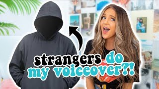 paying strangers to do my voiceover