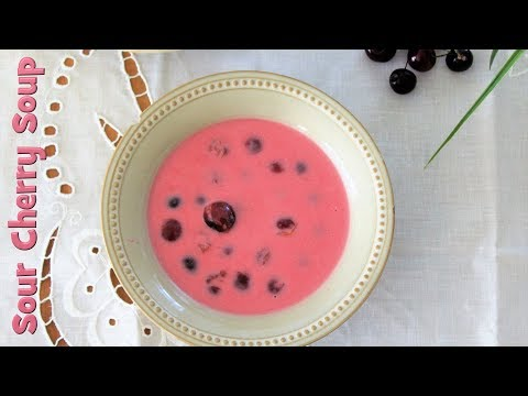 Hungarian Sour Cherry Soup (Meggyleves)