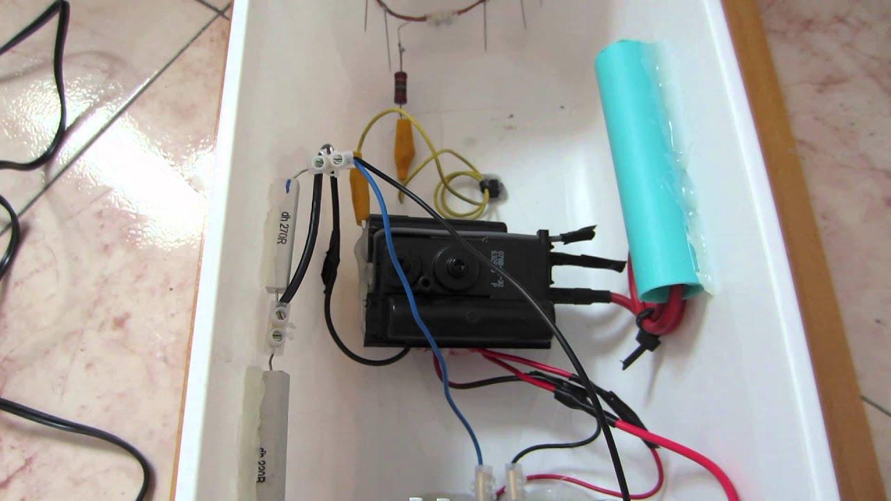 Circuito Ionizador De Aire : Generador de iones negativos con flyback monitor pc